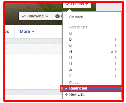How to Access Restricted List on Facebook