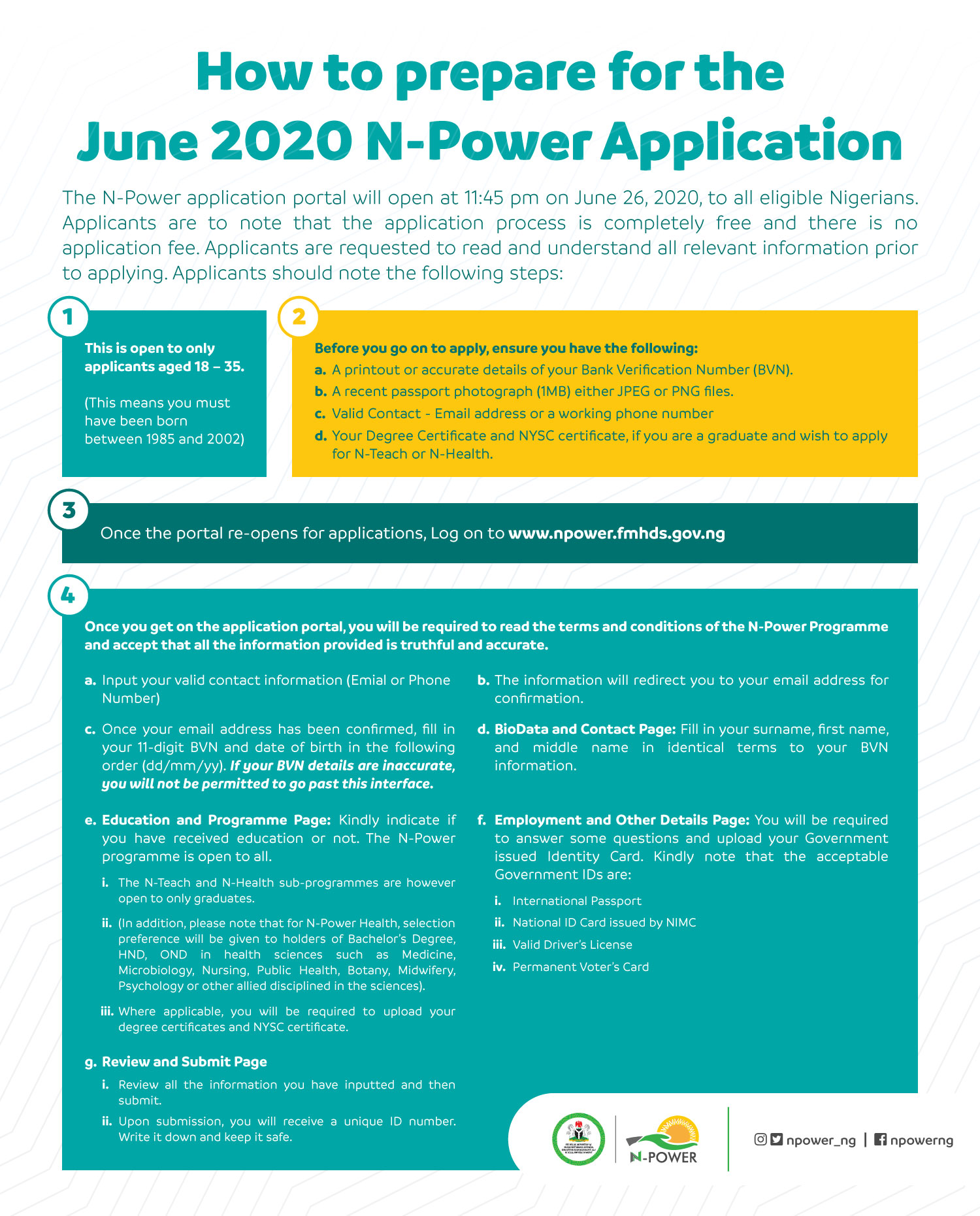 How To Prepare For Npower Application 2020 - All You Need To Apply For Npower Batch C Recruitment